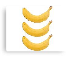 Pixel Banana Canvas Print