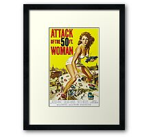 Attack of the 50ft Woman 1958 (PD) Framed Print