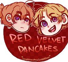 Red Velvet Pancakes by LumberTrash
