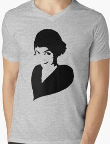 Amélie (black) Mens V-Neck T-Shirt