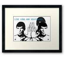 Live Long and VW - By SUMO Framed Print