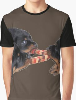 Loving and Sharing Rottweiler Puppies Graphic T-Shirt