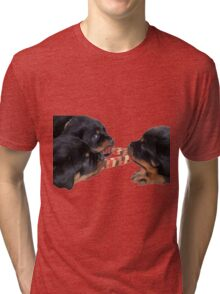 Loving and Sharing Rottweiler Puppies Tri-blend T-Shirt