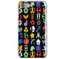 Super Smash Brothers - Series Symbols iPhone Case/Skin