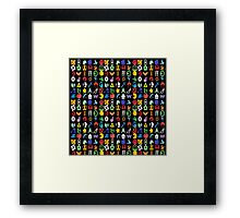 Super Smash Brothers - Series Symbols Framed Print