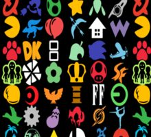 Super Smash Brothers - Series Symbols Sticker