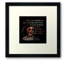 A Single Moment - Anne Frank Framed Print