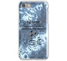 Cancer Star Sign Design iPhone Case/Skin