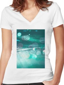 Hope Floats #redbubble #home #interiors #lifestyle Women's Fitted V-Neck T-Shirt