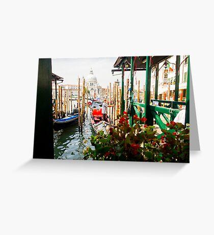 Gondolas of Venice Greeting Card