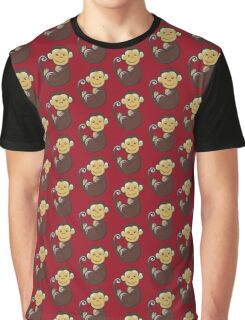 Monkey and fruit Graphic T-Shirt