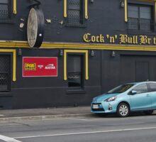 Cock 'n' Bull British Pub, Launceston, Tasmania, Australia Sticker
