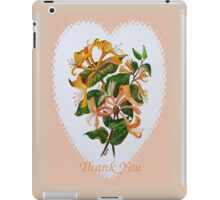 Thank You with Honeysuckle iPad Case/Skin