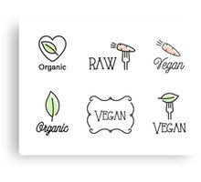 Vegan, Raw, Organic Canvas Print