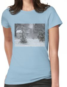 Trees in Snow Womens Fitted T-Shirt