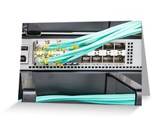 Fibre Optic Patch Leads in Networking Router Greeting Card