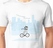 French Bulldog riding a bike! Its the most wonderful time of the year Unisex T-Shirt