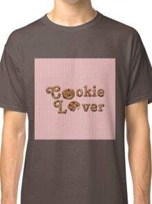 Cookie Lover Delicious Chocolate Chip Pink Stripes Classic T-Shirt