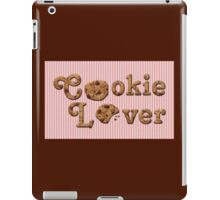 Cookie Lover Delicious Chocolate Chip Pink Stripes iPad Case/Skin