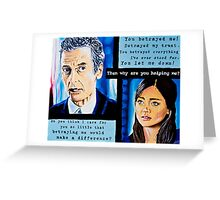 The Loyal Doctor or Clara's Betrayal Greeting Card