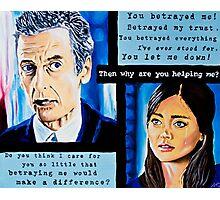 The Loyal Doctor or Clara's Betrayal Photographic Print