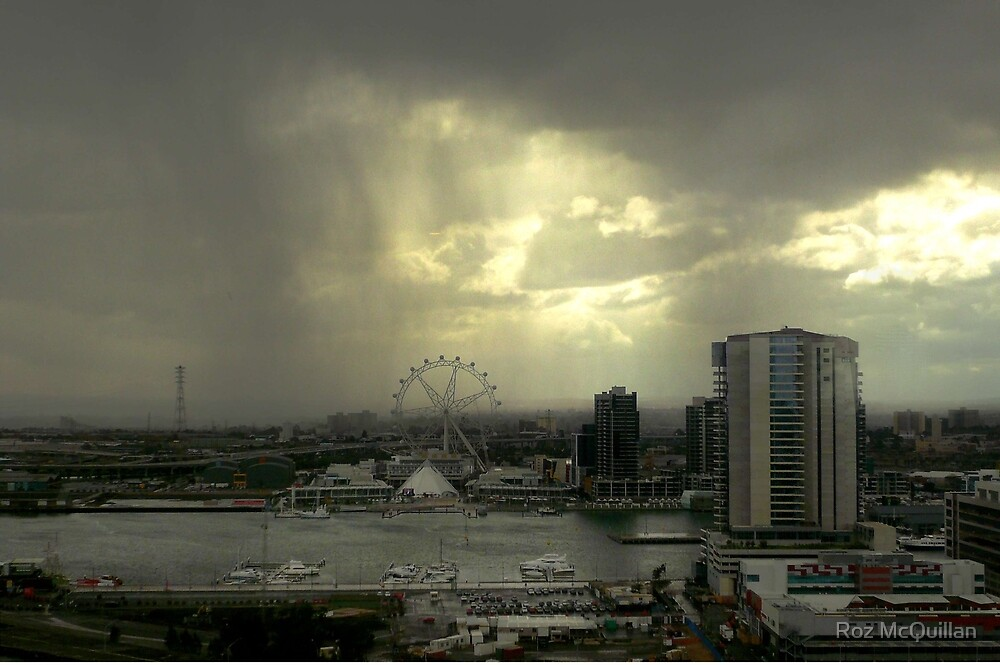 Rain Approaching, Docklands, Melbourne by Roz McQuillan