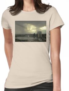Rain Approaching, Docklands, Melbourne Womens Fitted T-Shirt