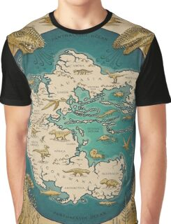 map of the supercontinent Pangaea Graphic T-Shirt