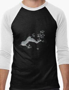 Cherry tree negative Men's Baseball ¾ T-Shirt