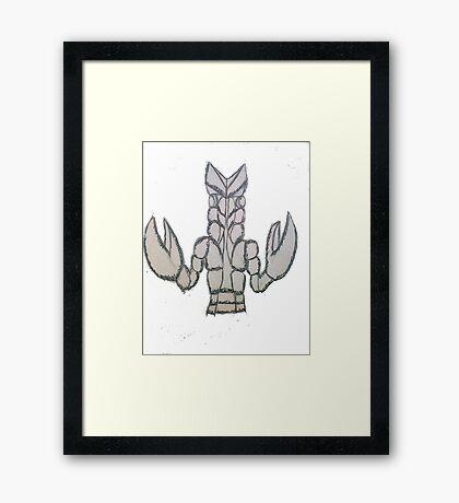 Ultra Monster Baltan Framed Print