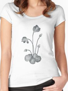 Ink flower negative Women's Fitted Scoop T-Shirt