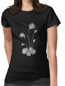 Ink flower negative Womens Fitted T-Shirt