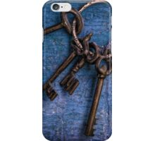 """""""Enter by the narrow gate"""" - Blue keys iPhone Case/Skin"""