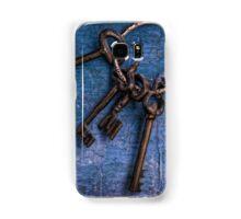 """""""Enter by the narrow gate"""" - Blue keys Samsung Galaxy Case/Skin"""