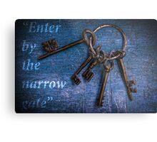 """""""Enter by the narrow gate"""" - Blue keys Metal Print"""