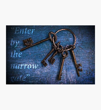 """Enter by the narrow gate"" - Blue keys Photographic Print"