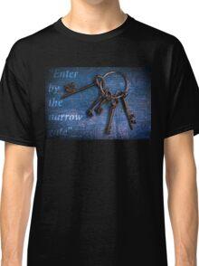 """Enter by the narrow gate"" - Blue keys Classic T-Shirt"
