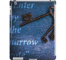 """Enter by the narrow gate"" - Blue keys iPad Case/Skin"