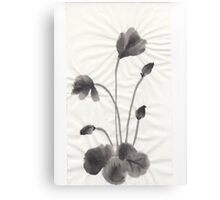 Ink flower Canvas Print