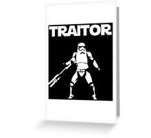 Star Wars TRAITOR (Star Wars font) Greeting Card