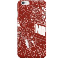 CRIME (WHITE) iPhone Case/Skin