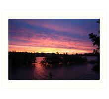 Sunset over Rathluba 2 Art Print