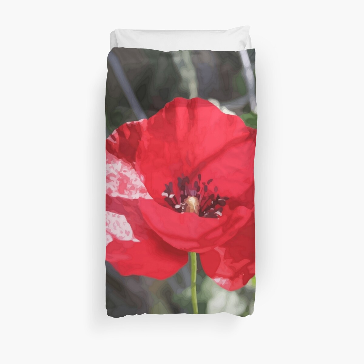 Vector Style Poppy With Natural Background  by taiche