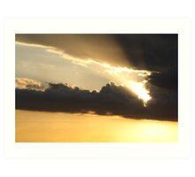 Sunset over Rathluba 3 Art Print