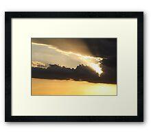 Sunset over Rathluba 3 Framed Print