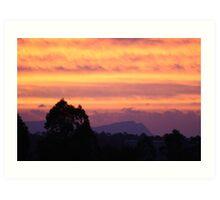 Sunset over Rathluba 4 Art Print