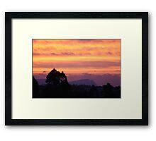 Sunset over Rathluba 4 Framed Print