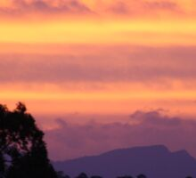 Sunset over Rathluba 4 Sticker