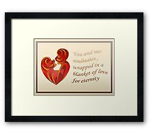 Soulmates Wrapped In A Blanket of Love Framed Print