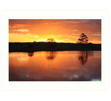Sunset Over Rathluba 5 Art Print